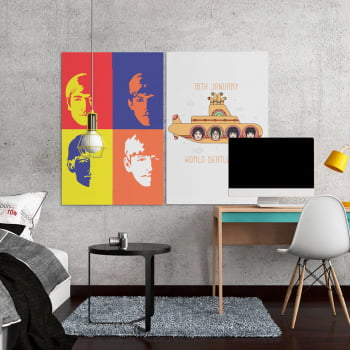 Quadro Decorativo The Beatles Yellow Submarine