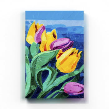 Quadro Decorativo Tulipa Aquarela